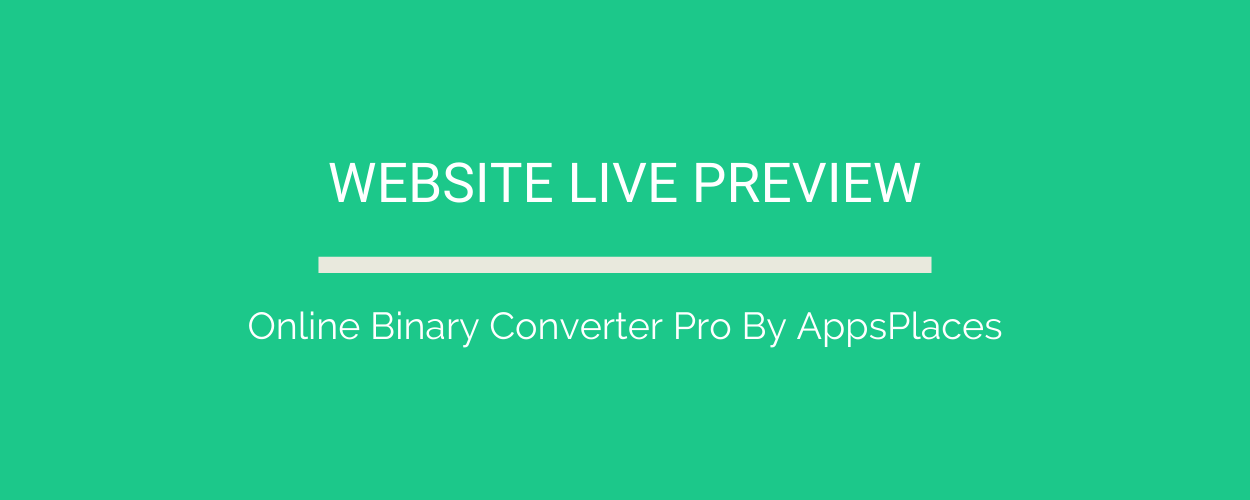 Online Binary Converter Pro (Angular 11 & Firebase) Full Production Ready App (Admin Panel, Adsense) - 1