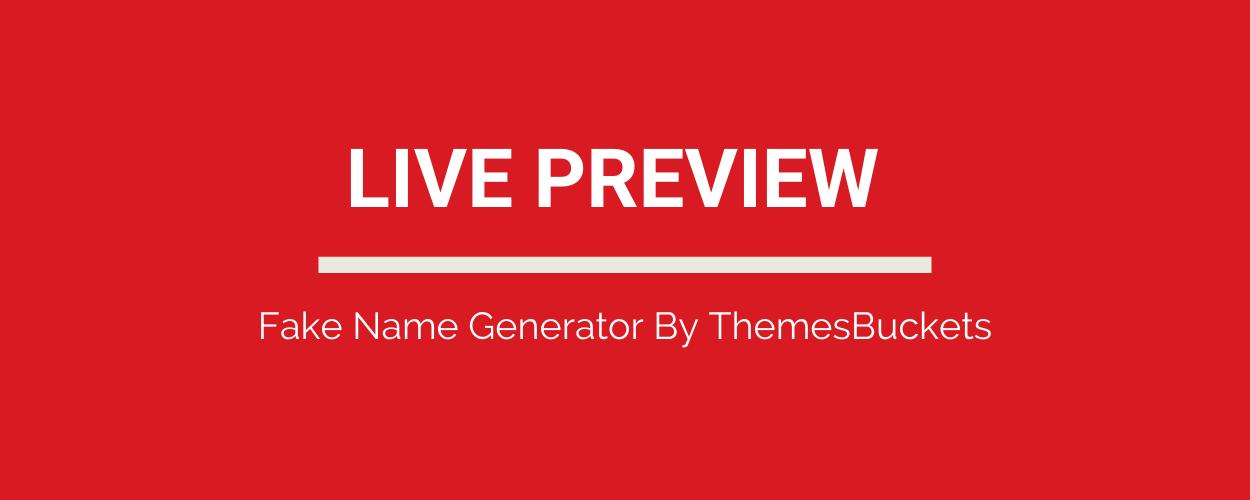 Fake Name Generator Full Production Ready App (Angular 11 & Typescript) - 1