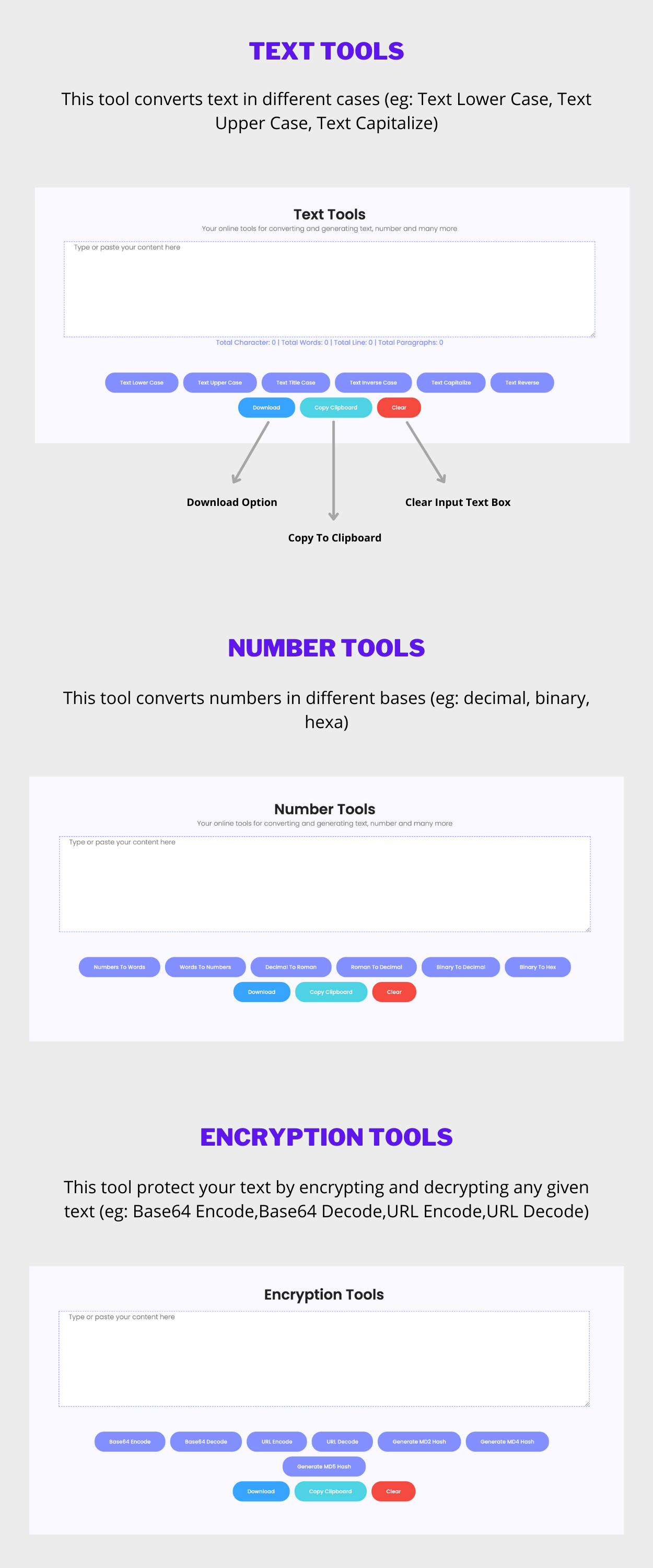 PRO Online Text Tools, Number Tools and Encryption Tools Converter Full Production Ready(Angular 11) - 7